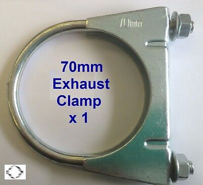 EXHAUST CLAMP, U BOLT 70mm  Single clamp