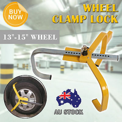 Security Wheel Clamp Lock Anti Theft Safety Auto For Car Vehicle Trailer Caravan