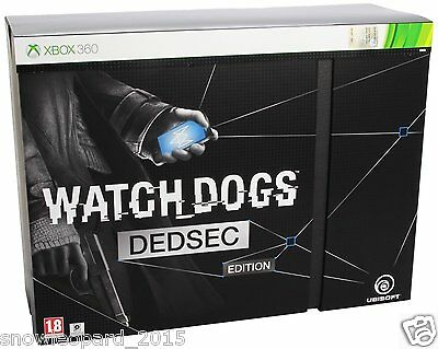 WATCH DOGS DEDSEC Collectors Edition Xbox 360 Video Game Watchdogs New deadsec