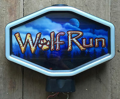 "Hexagon Igt Slot Machine Topper "" Wolf Run """