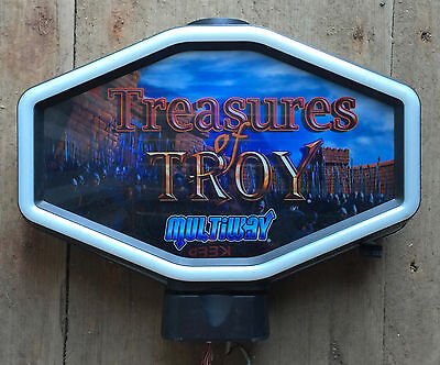 "Hexagon Igt Slot Machine Topper ""treasures Of Troy"""
