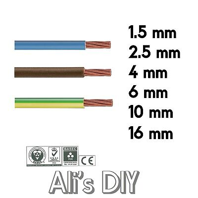 Single Core Conduit Cable 6491X Blue Brown Earth Yellow Green wire 6 10 16 mm