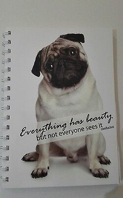 2018 diary pug with quote A5