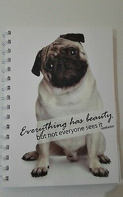 2019 diary pug with quote A5