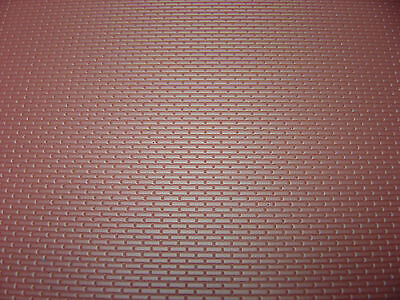 "New O  scale 1/48 styrene  plastic 3d patterned brick sheet  7"" x  12""  MBS  BR4"