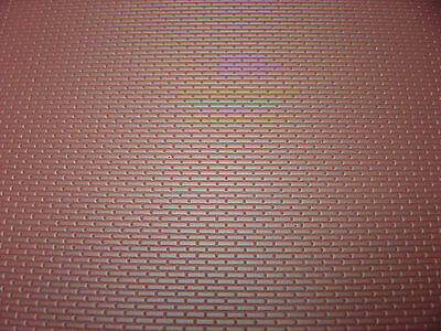 """New O  scale 1/48 styrene  plastic 3d patterned brick sheet  7"""" x  12""""  MBS  BR4"""