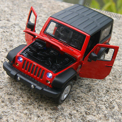 Jeep Wrangler 2014 1:32 Car Model Sound&Light Alloy Diecast Red Collections&Gift