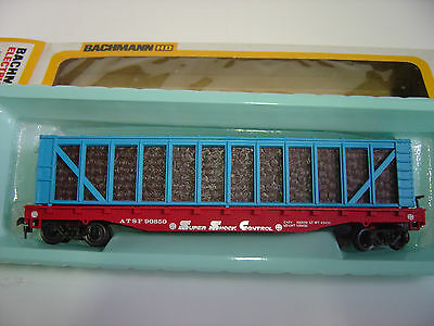 NEW HO scale Bachmann AT & SF Pulpwood car  lumber