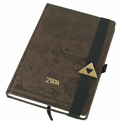 Legend Of Zelda A5 Notebook Brown Journal Notepad Premium Leather Look Official