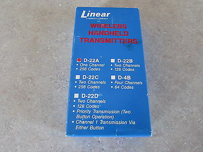 Linear D-22A D22A One Channel Wireless Security transmitter NIB Free Ship 60 Day