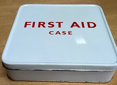 Vintage 1963  First Aid Case - Metal Case + Full Original Contents Kit - New