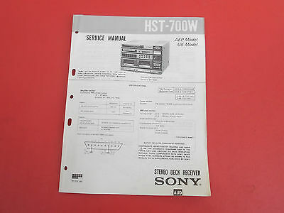 SONY HST-700W orig.Service Anleitung Manual