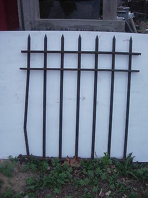 Vintage 1920's 4 Foot High   X  4 Foot Long  Wrought Iron Fence