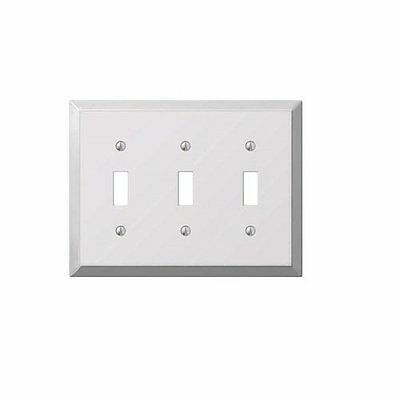 Amerelle 161TTT Stamped Steel 3 Toggle Wallplate -NEW