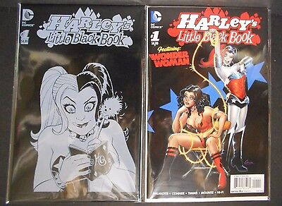 Dc Comics Harley's Little Black Book #1 Regular And Polybag Variant