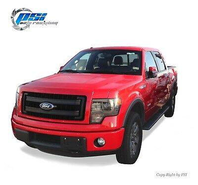 BLACK Sand Blast Textured Rugged Street Fender Flares 2009 - 2014 Ford F-150