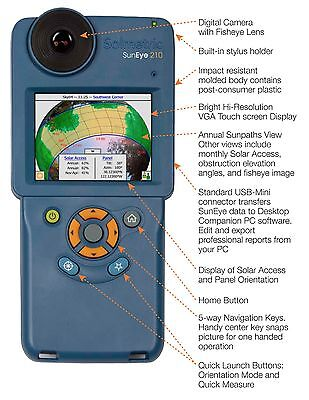 Solmetric Suneye 210 Shade Analysis Tool w/ GPS