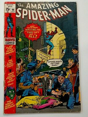 Amazing Spider-Man #96(1971) Drug Book Not CCA, Green Goblin Appearance