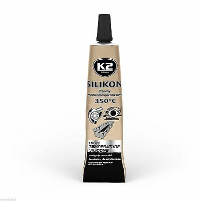 High Temperature Silicone K2 Black Up To 350°C Adhesive Sealant 21 G