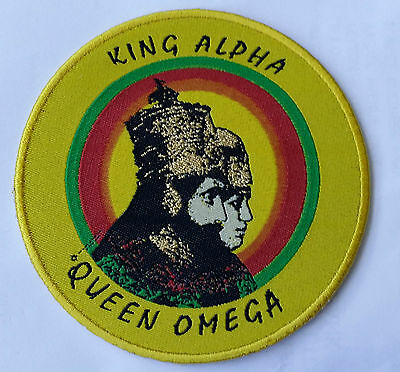King Alpha Queen Omega Cloth Africa Map Iron-On Patch 9cm Diameter