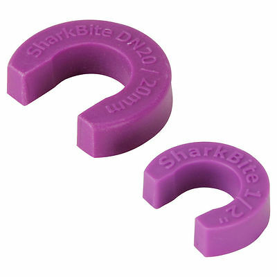 Sharkbite DISCONNECT CLIPS 20mm Easy Using Push Fitting Rust Resistant, Purple