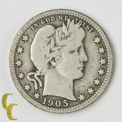 1905-S Barber Quarter (VG Very Good Condition)