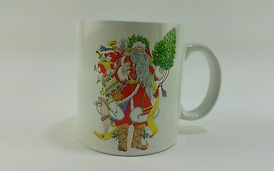 Vintage NOS 1985 Dayton Hudson Santa Clause Christmas Holiday Winter Coffee Mug