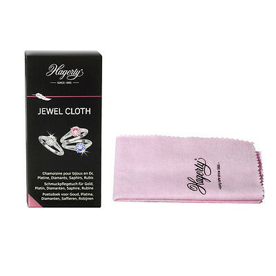 Hagerty Jewel Cloth Waterproofed Cloth for Gold Platinum Diamonds Sapphire Ruby