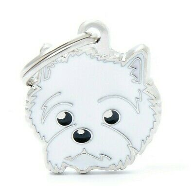 West Highland Terrier Dog ID Tag - Engraved FREE- Personalised - Charm - Keyring
