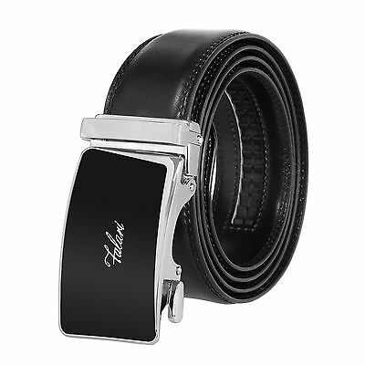 Falari® Men's Genuine Leather Dress Ratchet Belt 35mm Adjustable Size 7010
