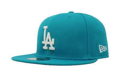 New Era 59Fifty Cap MLB Basic Los Angeles Dodgers Mens Jewel Blue Fitted Hat