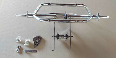 "Tricycle Conversion Kit Use for ( 20"" ~26"") Hollow hud wheels Chrome trike"