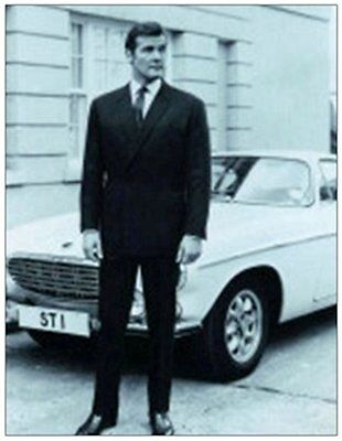 THE SAINT ROGER MOORE fridge magnet GIANT SIZE!!!! - REDUCED TO CLEAR