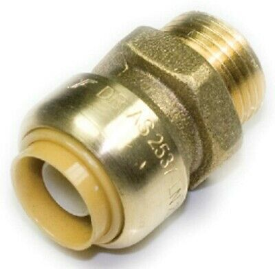 Sharkbite Straight MALE CONNECTOR 20mm x 15MI, Push Fitting PEX Pipe Use Only