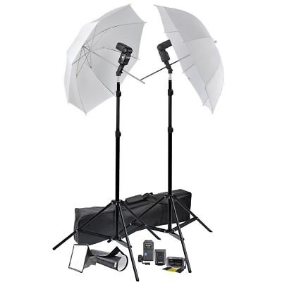 "Photo Studio 33"" Umbrella Flash Mount Speedlight Stand Set Diffuser Trigger Kit"