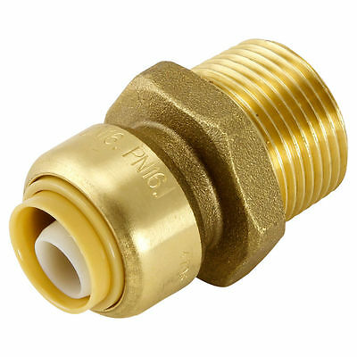 Sharkbite Straight MALE CONNECTORS 16mm x 20MI PEX Pipe Use Only, Threaded
