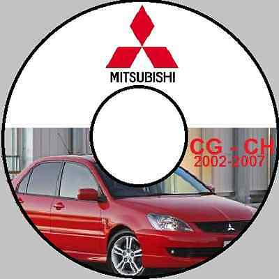 Mitsubishi Lancer Cg Ch Australian 2003 2004 2005 2006 2007 Workshop Manual Cd