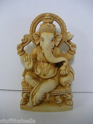 "Ganesh Statue - 6"" Resin - God of Good Fortune"