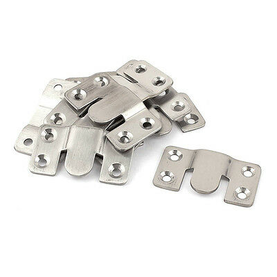 Furniture Sectional Interlock Style Sofa Connector 10pcs Silver Tone T1
