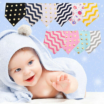 Baby Boy Girls Kids Bandana Bibs Infant Saliva Towel Dribble Triangle Head Scarf