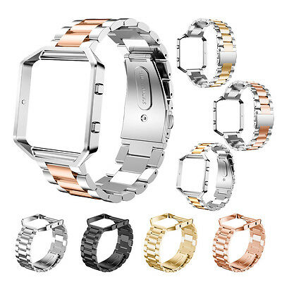Stainless Steel Wrist Band Bracelet Strap Metal Frame For Fitbit Blaze Tracker