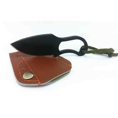Stainless Steel Camping Outdoor Survival Blade Mini Fishing Knife With Sheath US