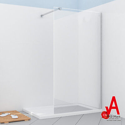 800/900/1000/1100/1200 Brand New Frameless Shower Screen Enclosure Fixed Panel