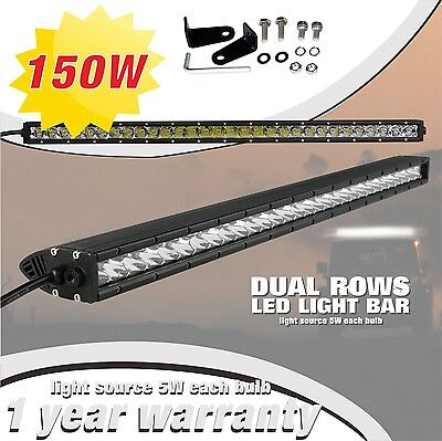 SLDX 150w 30.7'' Single Row Combo Off Road Cree Led Light Bar for Jeep 12V  IP68