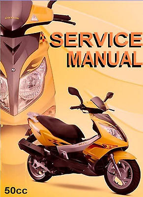 Chinese Scooter 50cc GY6 Service Repair Shop Manual on CD VENTO LIFAN ROKETA JCL