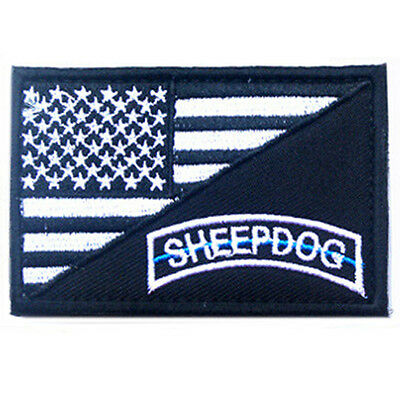 Sheep Dog Usa Flag U.s. Tactical 3D Army Embroidery Morale Badge Patch #1