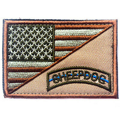 Sheep Dog Usa Flag U.s. Tactical 3D Army Embroidery Morale Badge Patch #3