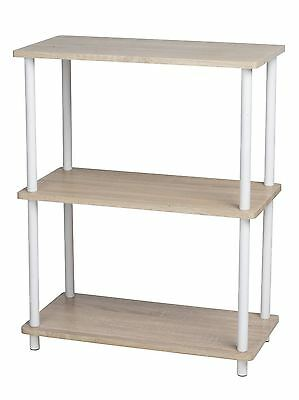 New Modern 3 Tier Home Side Lamp Lounge Living Room Table Shelf Bookcase