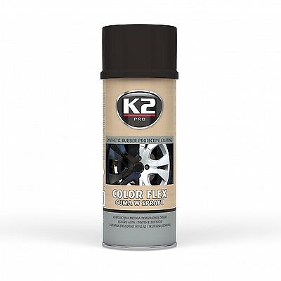 K2 Pro Color Flex Synthetic Rubber Protective Coating Spray Black Mat 400Ml