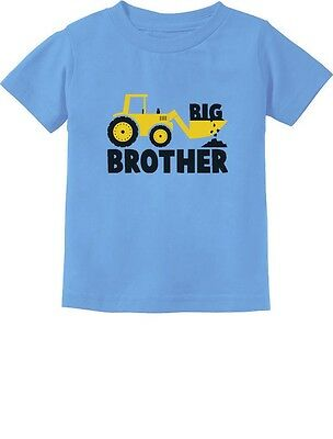 Big Brother New Baby Announcement Gift Tractor Loving Boys Infant Kids T-Shirt